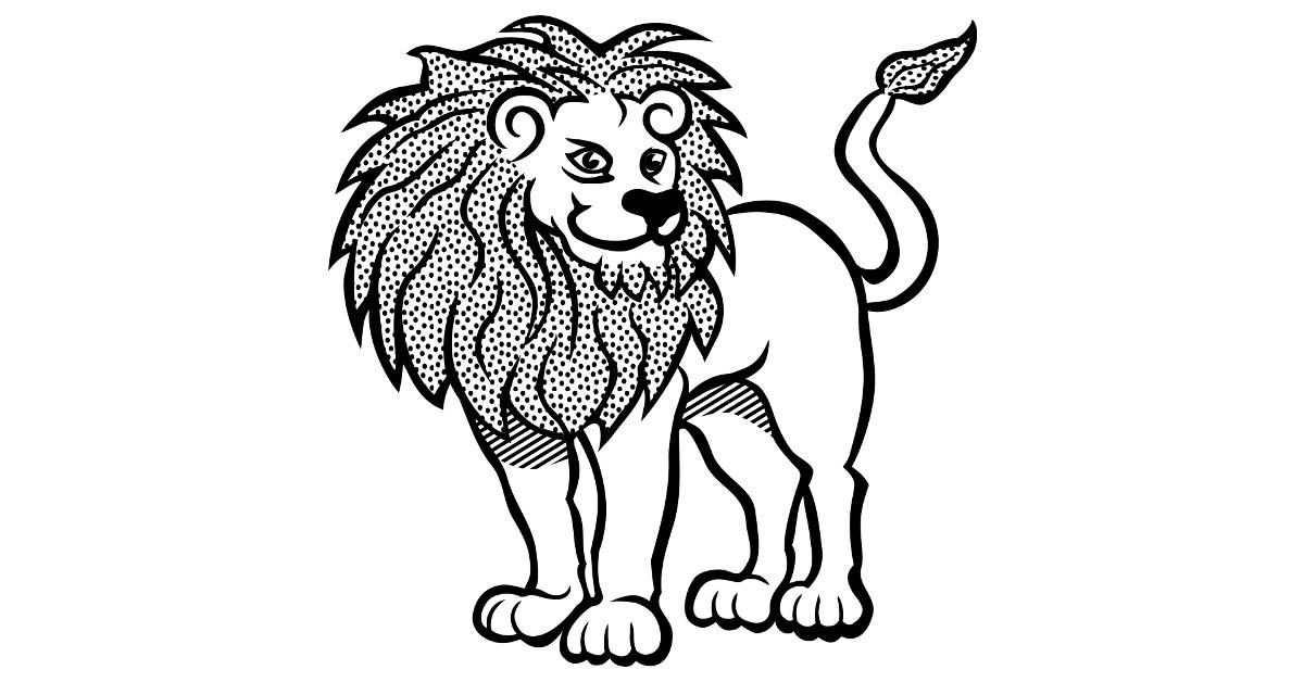 dibujos de leones colorear faciles pintar imprimir lapiz salvaje