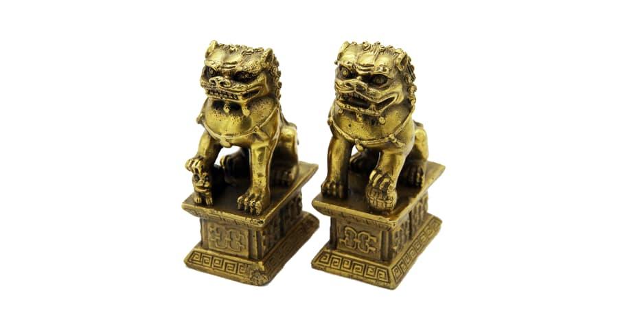 leones de fu de bronce perros buda