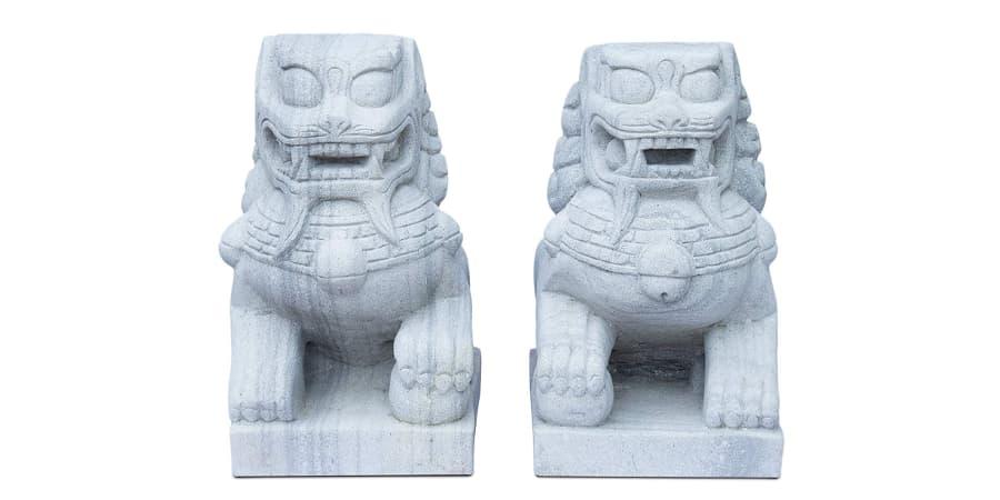 leones de fu de escultura perros foo