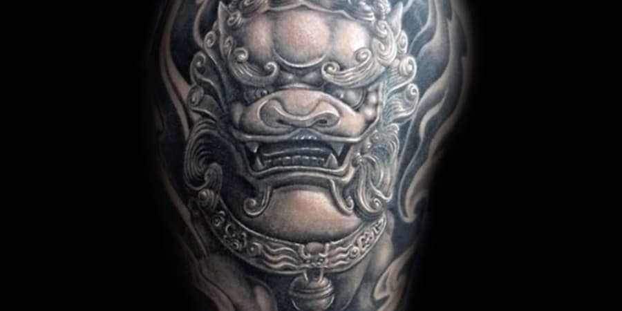 tatuajes tatoo perro leones de fu
