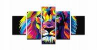 cuadro lienzo poster tapiz lamina leones leonas color