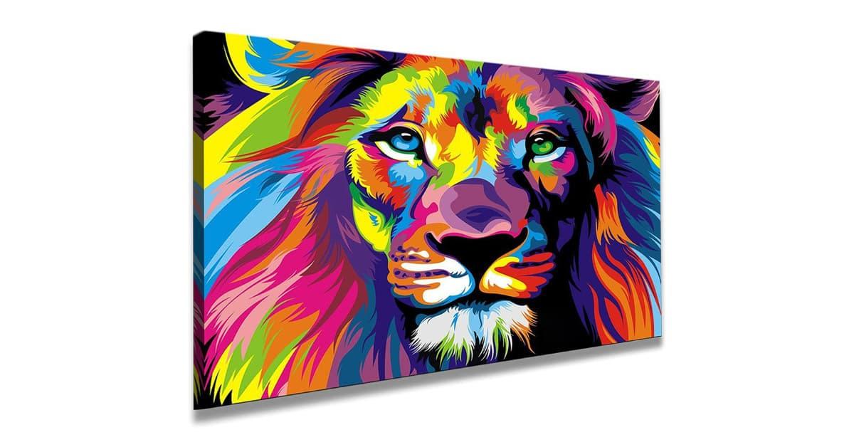cuadro de leones